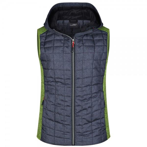 James & Nicholson Ladies' Knitted Hybrid Vest