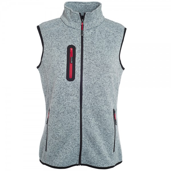 James & Nicholson Ladies' Knitted Fleece Vest