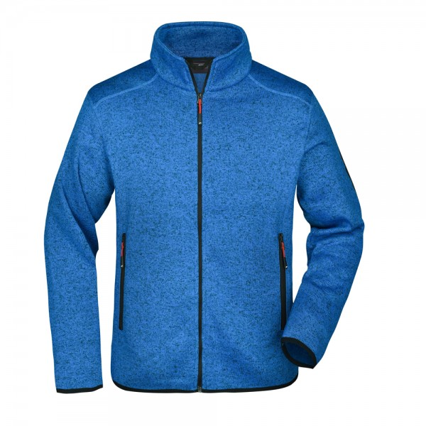 James & Nicholson Men's Knitted Fleece Jacket