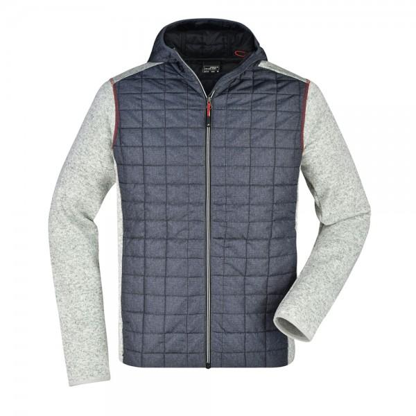 James & Nicholson Men's Knitted Hybrid Jacket
