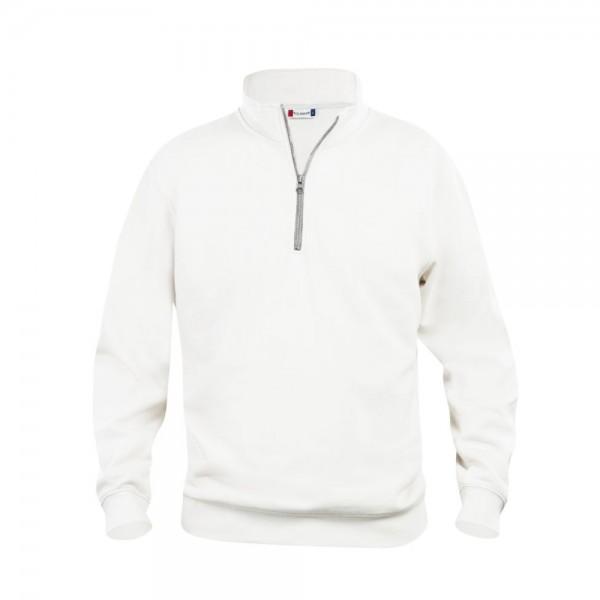 Clique Basic Half Zip Sweatshirt Weiß