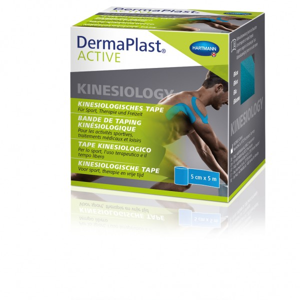DermaPlast® ACTIVE Kinesiology Tape Blau
