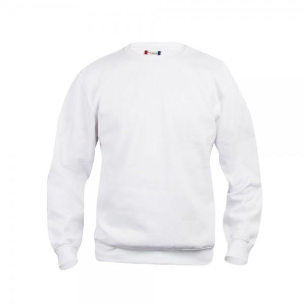 Clique Basic Rundhals Sweatshirt Weiß