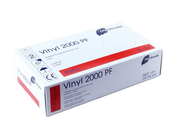 medida Vinyl Einmalhandschuhe Typ Rettung 10-7-Größe