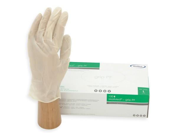 Einmalhandschuhe Maimed-grip PF Latex
